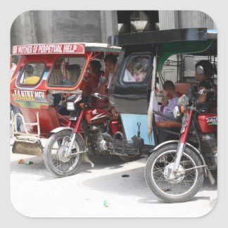 Tricycles Square Sticker