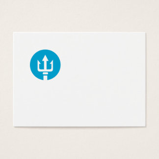 Trident Circle Icon Business Card