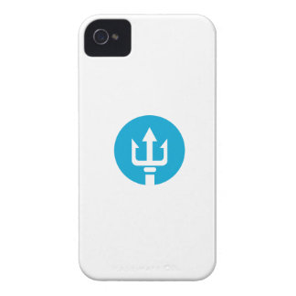 Trident Circle Icon iPhone 4 Cover