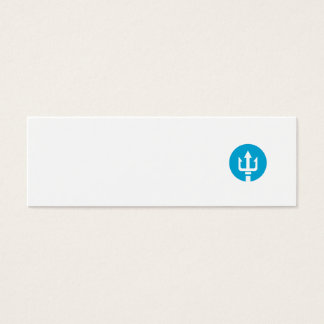 Trident Circle Icon Mini Business Card