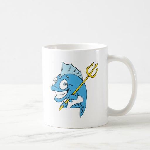 Trident los pescados taza de café