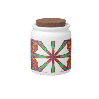 Trident Mandala Candy Jars
