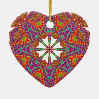 Trident Mandala Ceramic Ornament
