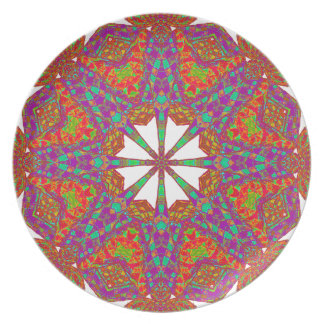 Trident Mandala Melamine Plate