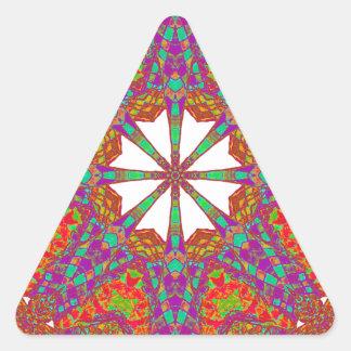 Trident Mandala Triangle Sticker