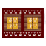 TRIDENT Protection 8 x 3 = 24 Four Squares Gold Greeting Card