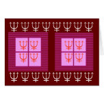 TRIDENT Protection 8 x 3 = 24 Four Squares Pink Greeting Cards