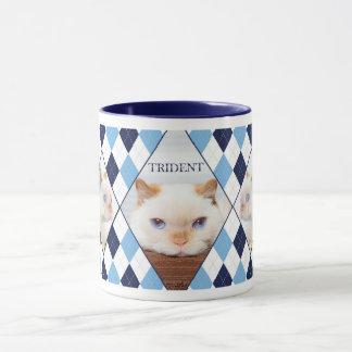 Trident the Cat Argyle Coffee Mug_01 Mug