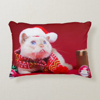 Trident the Cat Christmas Pillow