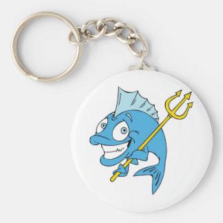 Trident the Fish Keychain