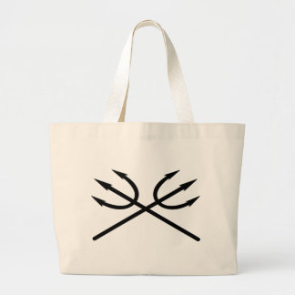 Tridents Large Tote Bag
