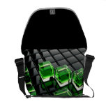 tridimencional customizado stock market courier bag