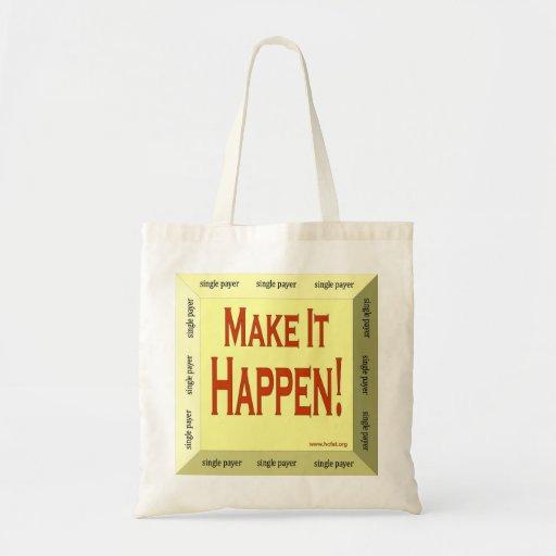 tridimensional haga que sucede tote bolsa
