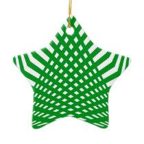 Tridimensional pattern ceramic ornament