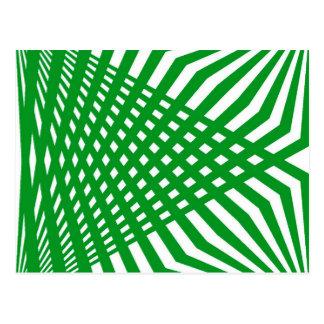Tridimensional pattern postcard