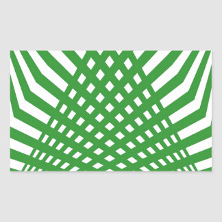 Tridimensional pattern rectangular sticker
