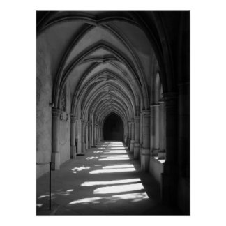 Trier Cathedral b&w canvas print