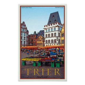 Trier - Hauptmarkt Póster
