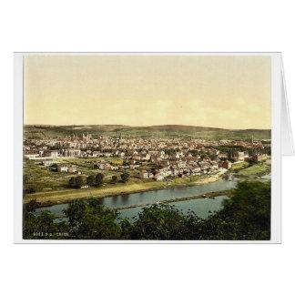 Trier (Treves), Mosela, valle de, Alemania P raro Tarjeta De Felicitación