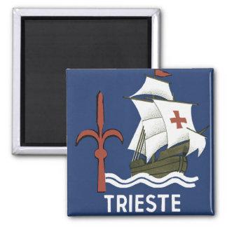 ~ Trieste de Albergo Columbia Génova Imán Cuadrado
