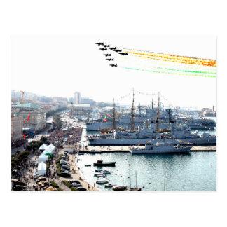 trieste frecce tricolori postcard