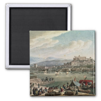 Trieste Harbour, 1802 2 Inch Square Magnet