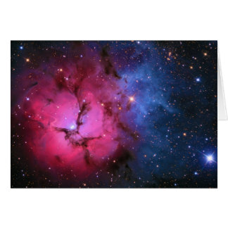 Trifid Emission Reflection Nebula M20 NGC 6514 Greeting Card