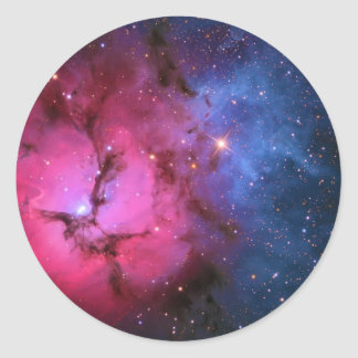 Trifid Emission Reflection Nebula M20 NGC 6514 Classic Round Sticker
