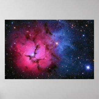 Trifid Emission Reflection Nebula M20 NGC 6514 Poster