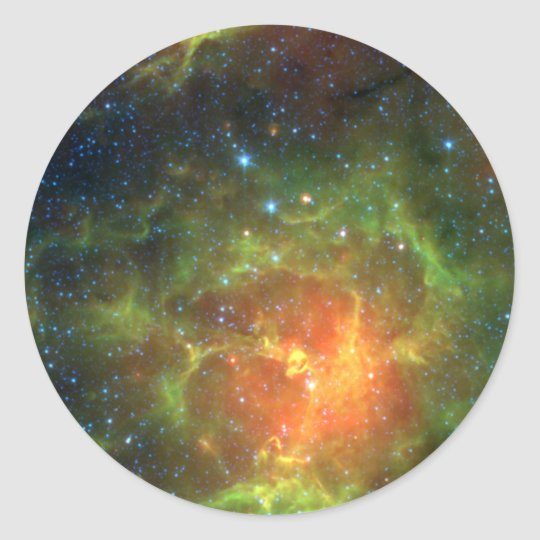 Trifid Nebula Classic Round Sticker