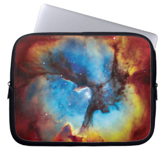 Trifid Nebula Colorful Hubble Outer Space Photo Computer Sleeve