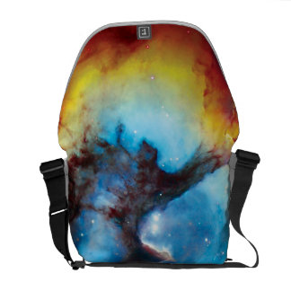 Trifid Nebula Colorful Hubble Outer Space Photo Courier Bag