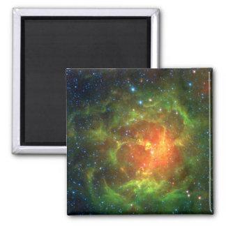 Trifid Nebula NASA Spitzer 2 Inch Square Magnet