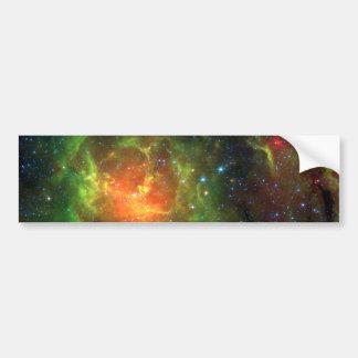 Trifid Nebula NASA Spitzer Bumper Sticker