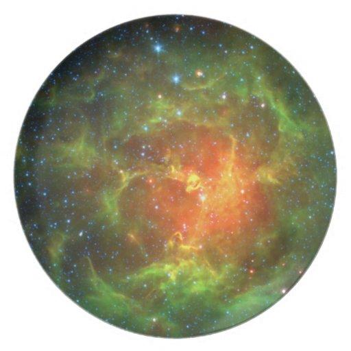Trifid Nebula NASA Spitzer Party Plates