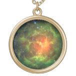 Trifid Nebula NASA Spitzer Personalized Necklace