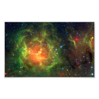 Trifid Nebula NASA Spitzer Photograph