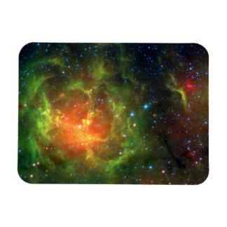 Trifid Nebula NASA Spitzer Rectangular Magnet