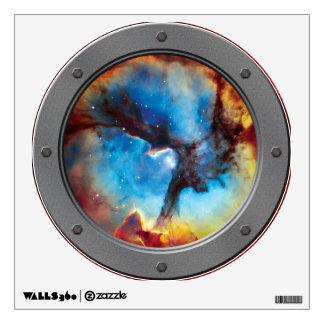 Trifid Nebula Porthole Wall Sticker