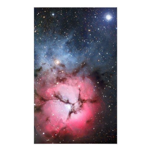 Trifid Nebula Space Astronomy Art Photo
