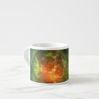 Trifid Nebula Space Spitzer Green Espresso Cup