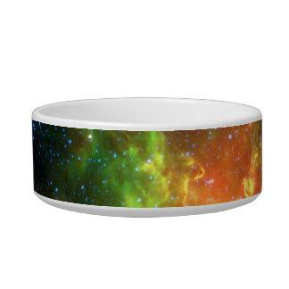 Trifid Nebula Space Spitzer Green Pet Water Bowl