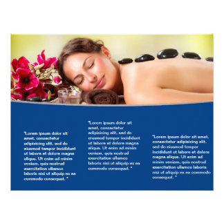 Trifold Spa Wellness Brochure Flyer Design