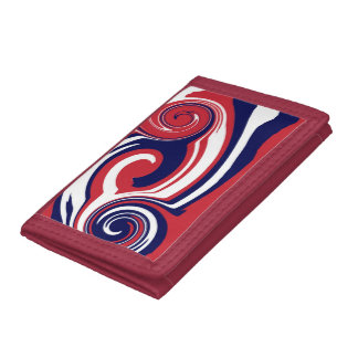 TriFold Wallet Red White Blue