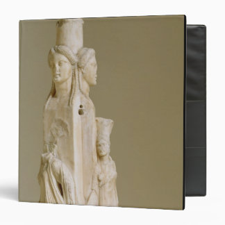 Triform Herm of Hecate, Marble sculpture, Attic pe 3 Ring Binders