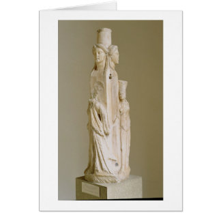 Triform Herm of Hecate, Marble sculpture, Attic pe Greeting Card