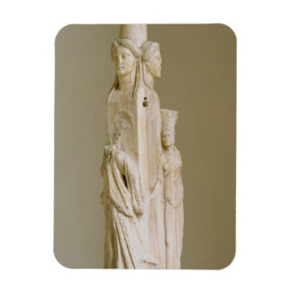Triform Herm of Hecate, Marble sculpture, Attic pe Magnet