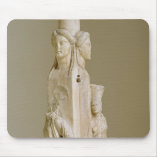 Triform Herm of Hecate, Marble sculpture, Attic pe Mousepad