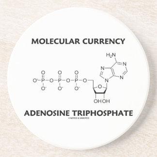 Trifosfato de adenosina molecular de la moneda posavasos manualidades