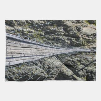 Triftsee Suspension Bridge - Gadmen - Switzerlan Hand Towels